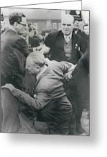Sir Oswald Mosley Dies In Paris Greeting Card