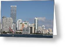 Skyline Miami Greeting Card