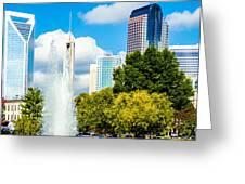 Skyline Of A Modern City - Charlotte North Carolina Usa Greeting Card