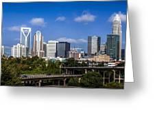 Skyline Of Uptown Charlotte North Carolina. Greeting Card by Alex Grichenko