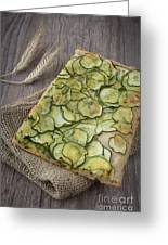 Sliced Pizza With Zucchini Greeting Card by Sabino Parente