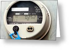 Smart Grid Residential Digital Power Supply Meter Greeting Card