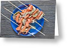 Smoked Salmon And Grilled Artichoke Greeting Card