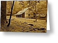 Smoky Mountain Cabin Greeting Card