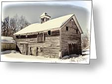 Snow In The Country Greeting Card