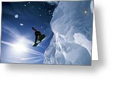 Snowboarding In Lake Tahoe Greeting Card