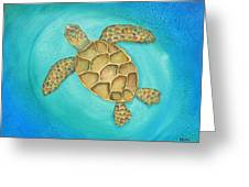 Solo Swimmer Greeting Card