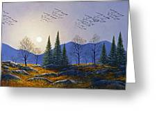 Southern Migration By Moonlight Greeting Card