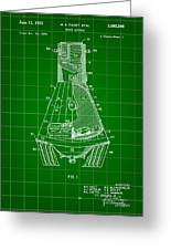 Space Capsule Patent 1959 - Green Greeting Card