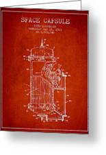 Space Capsule Patent From 1963 Greeting Card by Aged Pixel