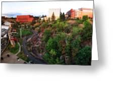 Spokane Falls Greeting Card by Dan Quam