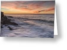 Spoon Bay Sunrise Greeting Card by Steve Caldwell
