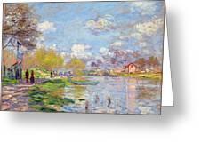 Spring By The Seine Greeting Card