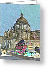 St Paul's Cathedral London Art Greeting Card