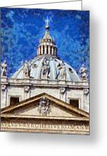 St Peter In Vatican Greeting Card