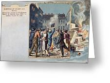 Stamp Act Riot, 1765 Greeting Card