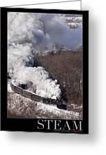 Steam At Scranton Greeting Card