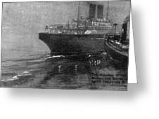 Steamship Accident, 1914 Greeting Card