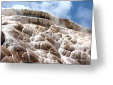 Steamy Mammoth Hot Springs Greeting Card