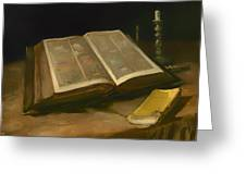 Still Life With Bible Greeting Card