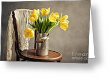 Still Life With Yellow Tulips Greeting Card