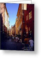 Stockholm City Old Town Greeting Card
