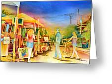 Street Art Fair Greeting Card