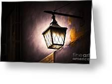Street Lamp Shining Greeting Card