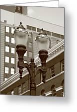 Streetlights - Lansing Michigan Greeting Card