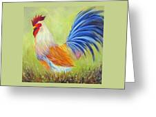 Strutting My Stuff, Rooster Greeting Card