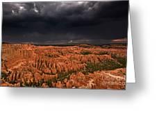 Summer Thunderstorm Bryce Canyon National Park Utah Greeting Card