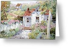 Summer Time Cottage Greeting Card