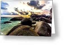 Sun Sand Sea And Rocks Greeting Card