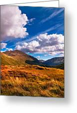 Sunny Day At Rest And Be Thankful. Scotland Greeting Card
