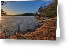 Sunrise On Millsite Lake Greeting Card