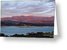 Sunset At Cachuma Lake Greeting Card