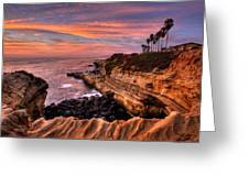 Sunset Cliffs Greeting Card by Peter Tellone