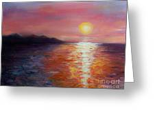 Sunset In Ixtapa Greeting Card