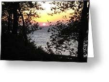 Sunset In Samothraki Greeting Card