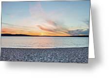 Sunset On South Bay, Lake Superior Greeting Card