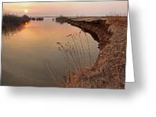Sunset  River Panorama Greeting Card