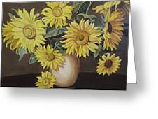 Sunshine And Sunflowers Greeting Card