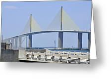 Sunshine Skyway Bridge I Tampa Bay Florida Usa Greeting Card