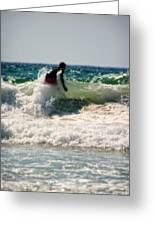 Surfing In California Greeting Card