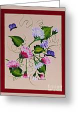 Sweet Peas And Butterflies Greeting Card