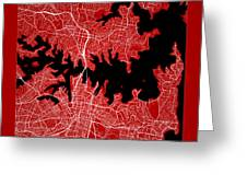 Sydney Street Map - Sydney Australia Road Map Art On Color Greeting Card