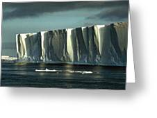 Tabular Iceberg Antarctica Greeting Card