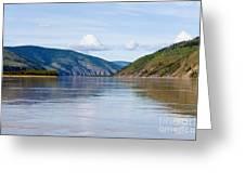 Taiga Hills At Yukon River Near Dawson City Greeting Card