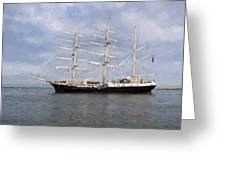 Tall Ship At Anchor Greeting Card