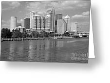Tampa Skyline From Davis Islands Greeting Card